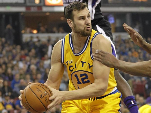 DALLAS MOVE: Andrew Bogut, of Australia, in action for the Golden State Warriors.