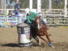 SLICK COMPETITOR: Oscar Plunkett Phelps competing in the Kangaroo Creek Coutts Crossing Charity Sports Club Junior Rodeo and Campdraft barrel race.