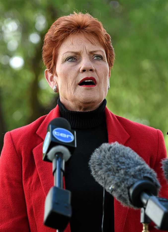 One Nation leader and Senator Pauline Hanson