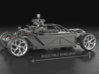 Amazing camera rig car can stretch and become any car.