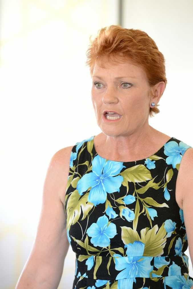 The Rosewood District Protection Organisation held a forum at the Rosewood Uniting Church about mining in the area. Pauline Hanson, One Nation leader and candidate for Lockyer addresses the group. Photo: Kate Czerny / The Queensland Times