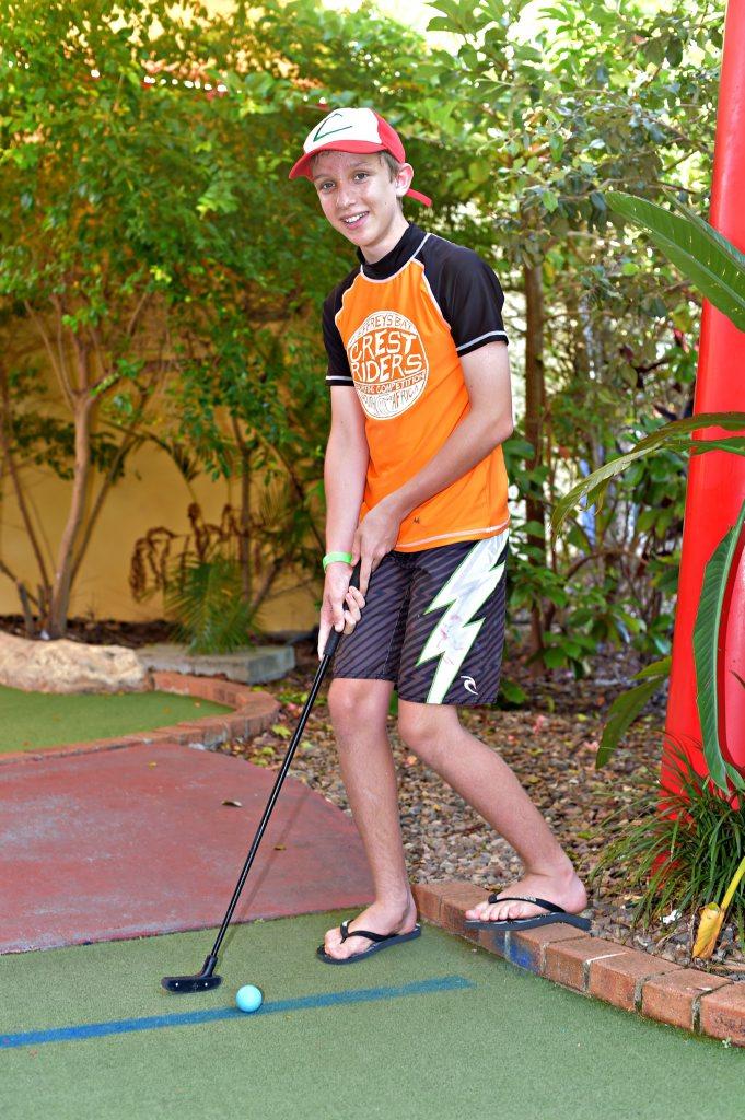 Holiday Fun at Top Shots Fun Park Jake Herden Photo: Warren Lynam / Sunshine Coast Daily