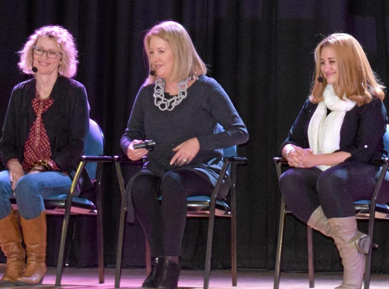 Dr Catherine Keenan, Ms Elizabeth Broderick AO and Ms Melissa Abu-Gazaleh.