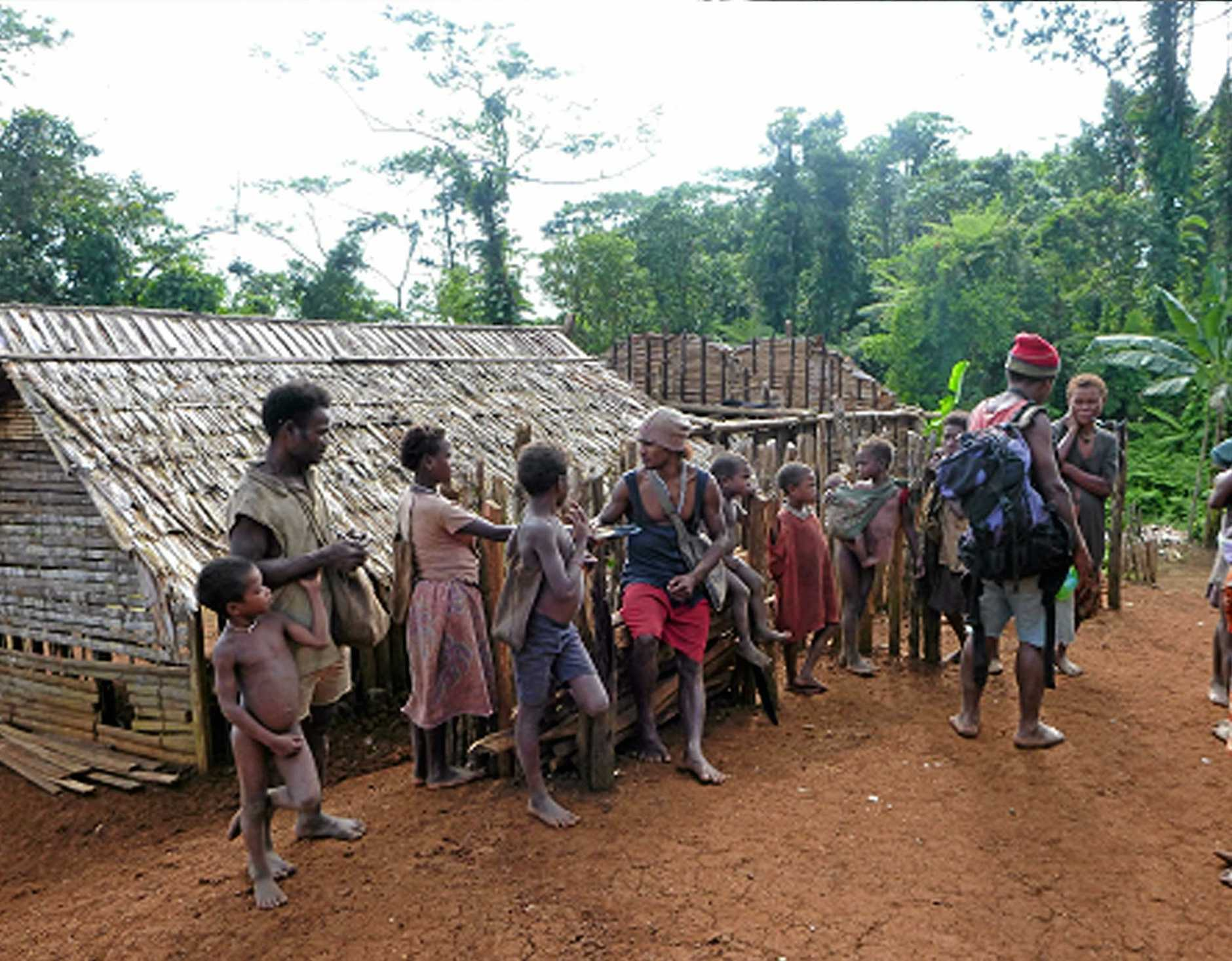 A group of local bushmen on the island.