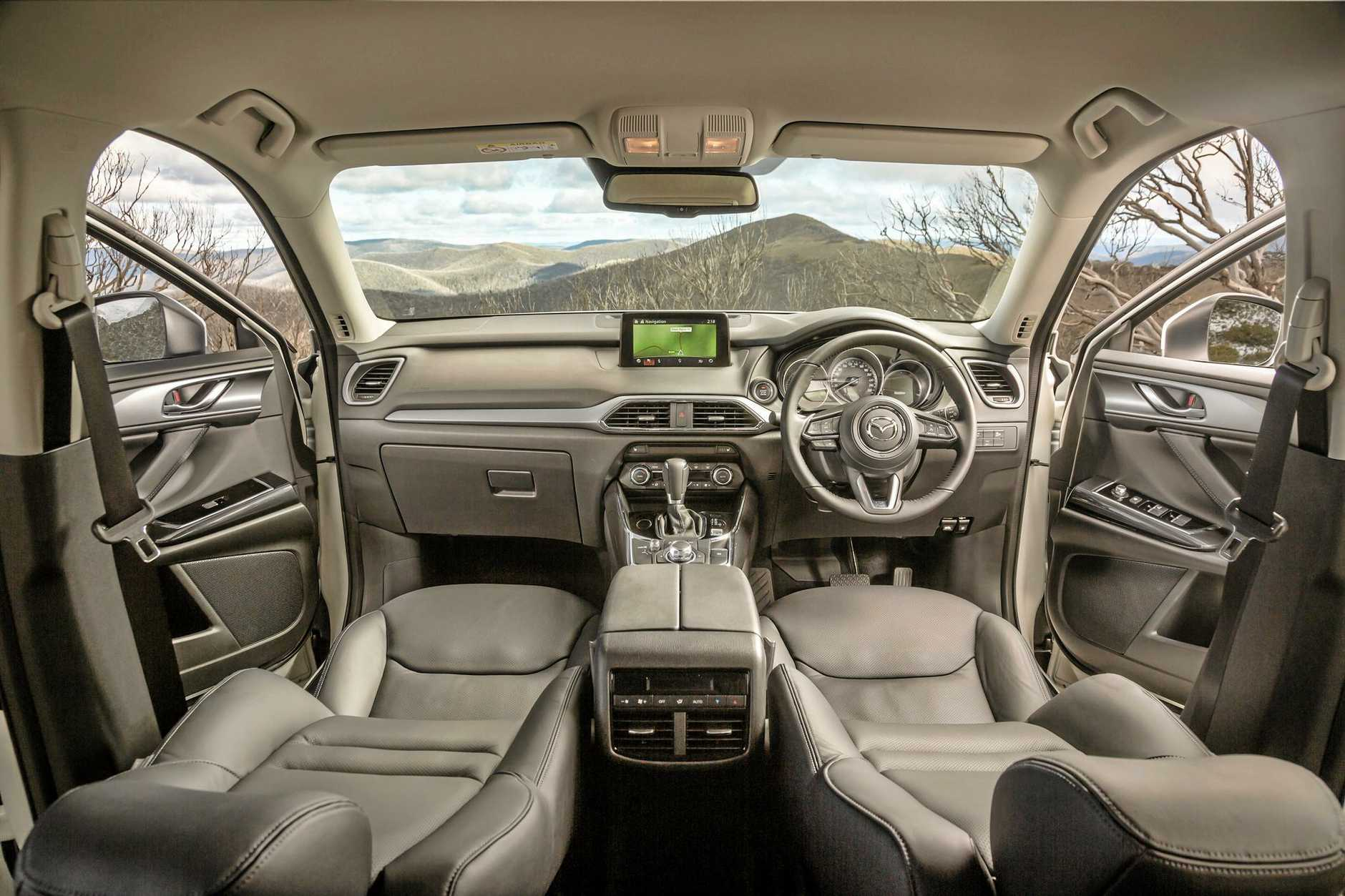 Inside the 2016 Mazda CX-9.