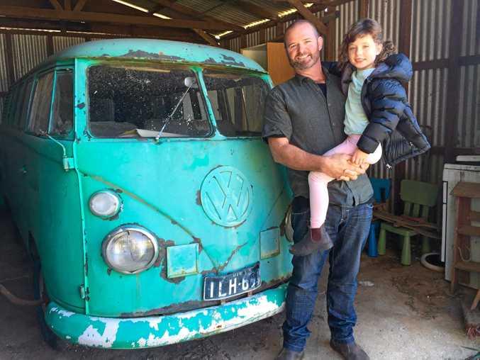 VISION: Bruns Eco Village land steward and conceptualiser Kelvin Daly with his daughter Solara.