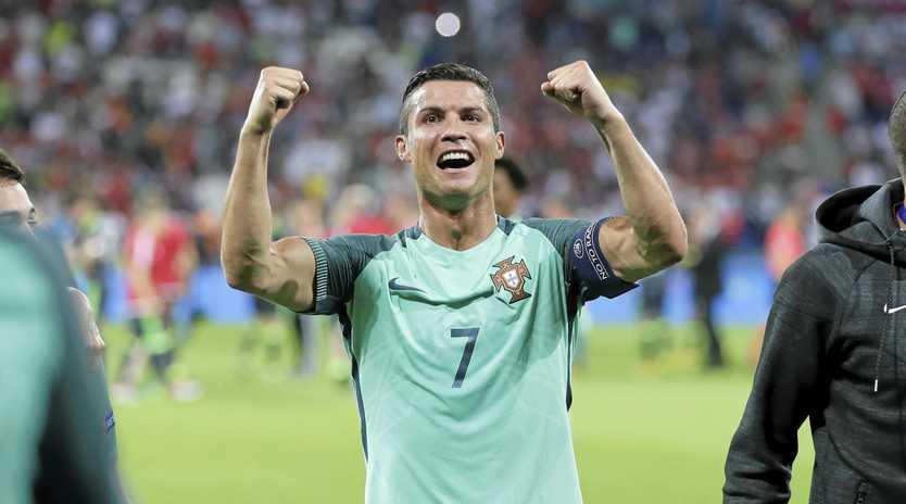 INTO THE FINAL: Portugal's Cristiano Ronaldo celebrates winning the Euro 2016 semi-final against Wales.