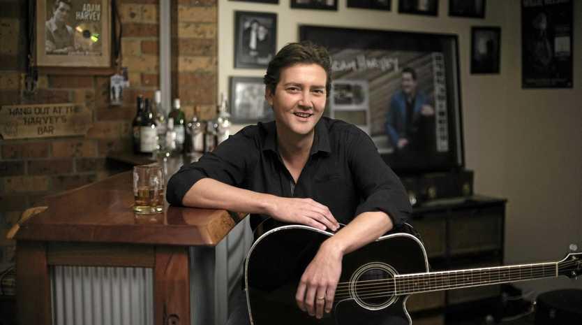 AT HOME: Australian country music artist Adam Harvey.
