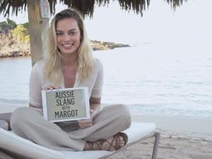 Margot Robbie teaches Aussie Slang