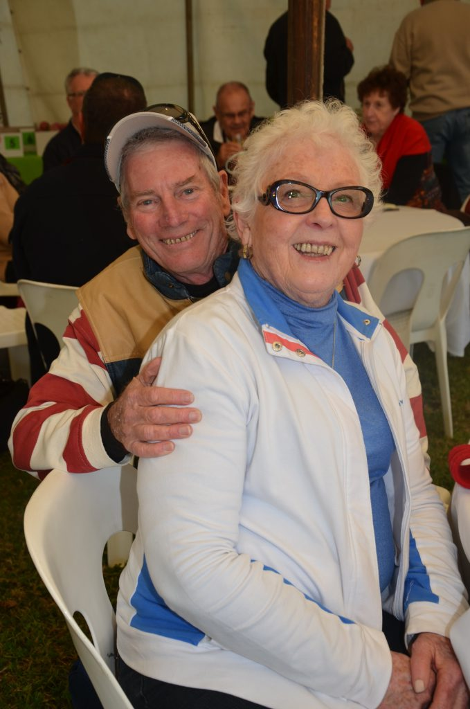 Tony and Judy Brown from Toowoomba at Sutton's Cider Festival. Photo Emma Boughen / The Bush Telegraph