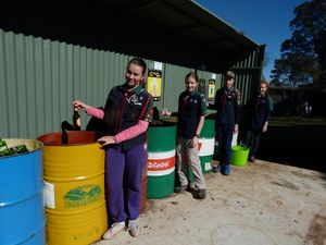 Scouts encourage recycling through grant-funded station