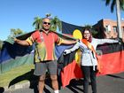 NAIDOC Parade, Brian McKean and Sara McConville. Photo Allan Reinikka / The Morning Bulletin