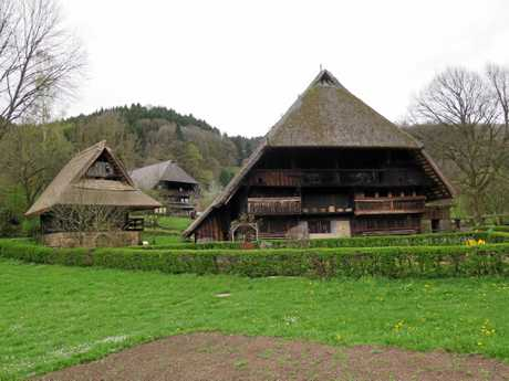 The Vogtsbauernhof, built in 1612, was until very recently (the 1960s) lived in by one old woman who eschewed all mod cons.