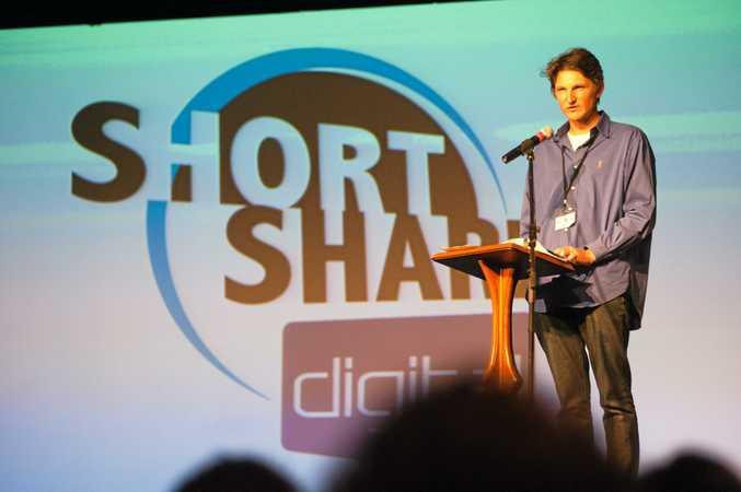 The Janison Short Sharp Film Festival: Mark George talks. Photo: Rob Wright/The Coffs Coast Advocate.