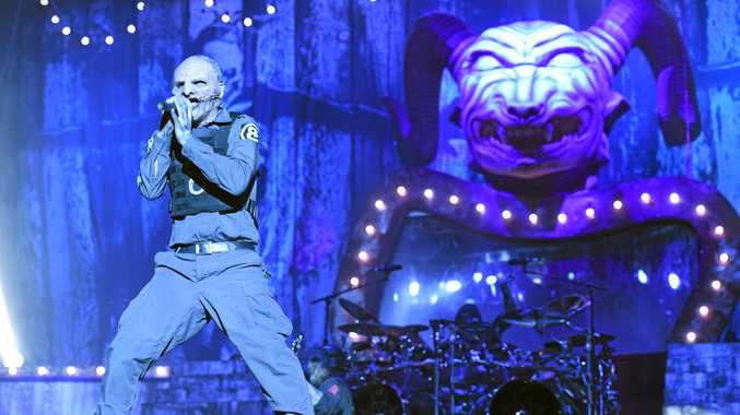 Slipknot take the headline stage at Soundwave 2015 in Brisbane at the RNA showgrounds. Photo Marc Stapelberg / The Northern Star
