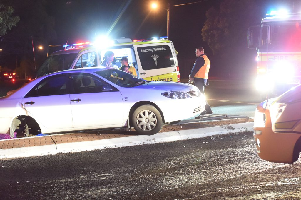 Two-vehicle crash at the intersection of Torquay Terrace and Tavistock St, Torquay.Photo Matthew McInerney / Fraser Coast Chronicle