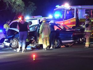 Two injured in two-vehicle crash at Torquay