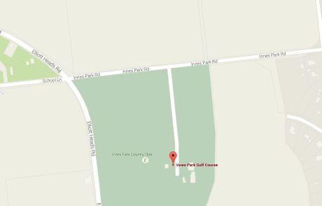 A map of where a single-vehicle rollover happened at Innes Park Rd on Saturday morning.