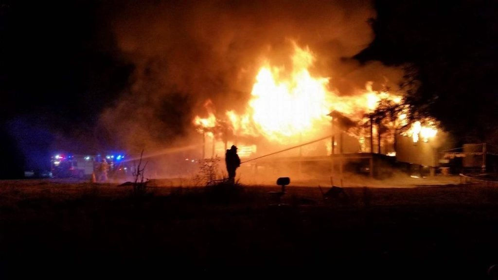 Fire destroyed Rosie Brown and Craig Cowley's home at Home Creek on July 4, 2016.