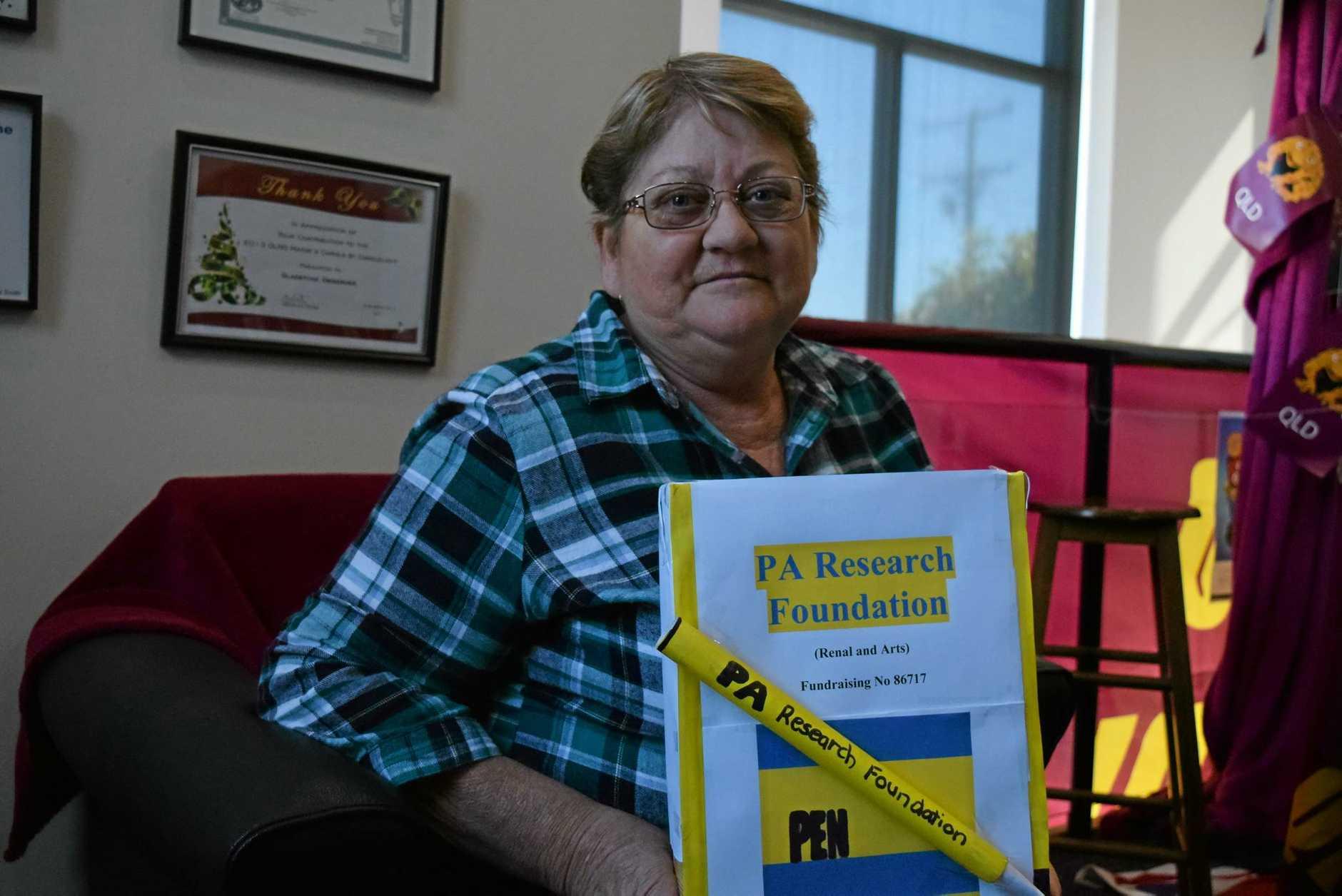 Gladstone resident Sandra Mullings has Autosomal Dominant Tubulointerstitial Kidney Disease. (INSET) Sandra Mulling's with her siblings, Linda Reid, Helen Thompson, Adam Hayward and Patty Kent.