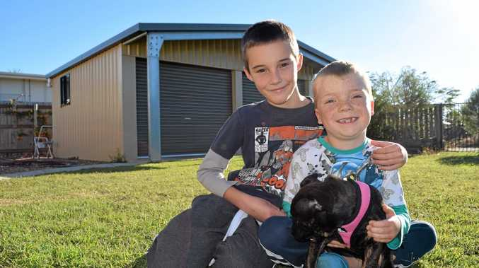 BROTHERLY LOVE: Caleb Goulding has been looking out for his younger brother Tyler who has been battling a rare form of cancer.