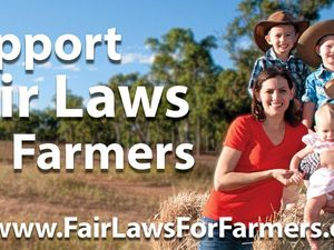Billboards push 'fair laws for farmers'