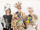 IN FASHION: Serenity Skin Clinic Lady of the Carnival runner-up Tanya Daniel, and winner Amelia Carson with Jacqui's Shoe Boutique Millinery award winner Kristi Lawrence, show off their outfits on South Grafton Cup Day.