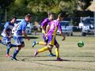 The Gunners and Nanango were evenly matched in the first-half of the Gunners v Nanango second division game at Nanango on Saturday, July 9.