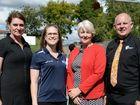 Christine Hills, Kathryn Greensill, Cr Margaret Strelow and CQ University Vice Chancellor Scott Bowman. Photo Allan Reinikka / The Morning Bulletin