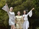 Harristown High School students prepare of Creative Generation. From left; Hannah Budde , Claire Russo, Sherryn Winning. July 11, 2016