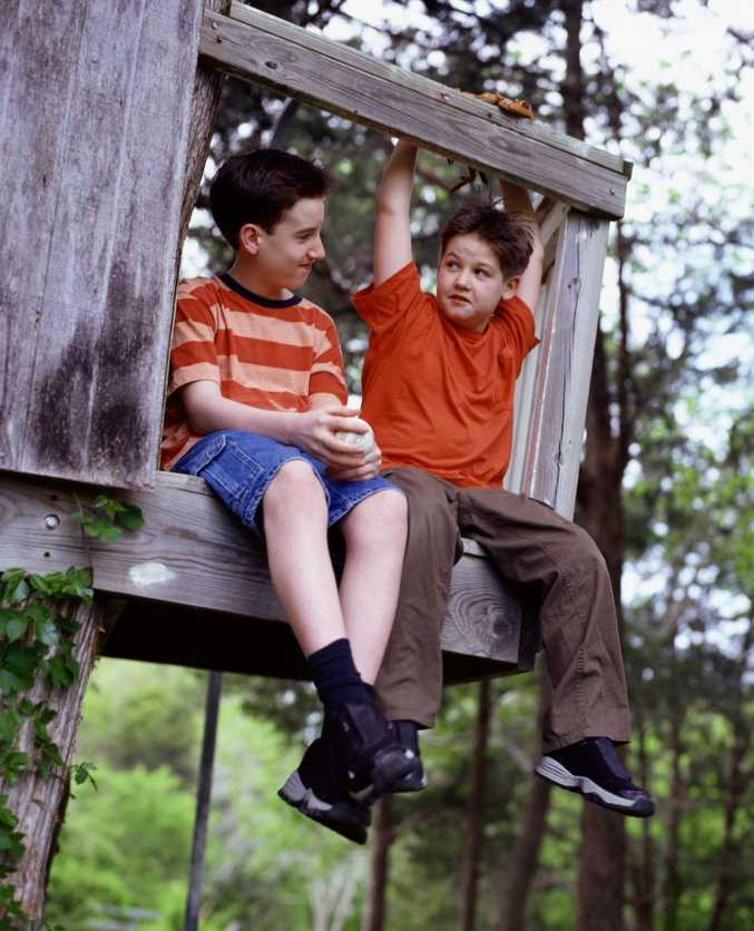 Remember this as kids?! Research reveals kids these days are less likely to build cubbies and climb trees than their parents at the same age.