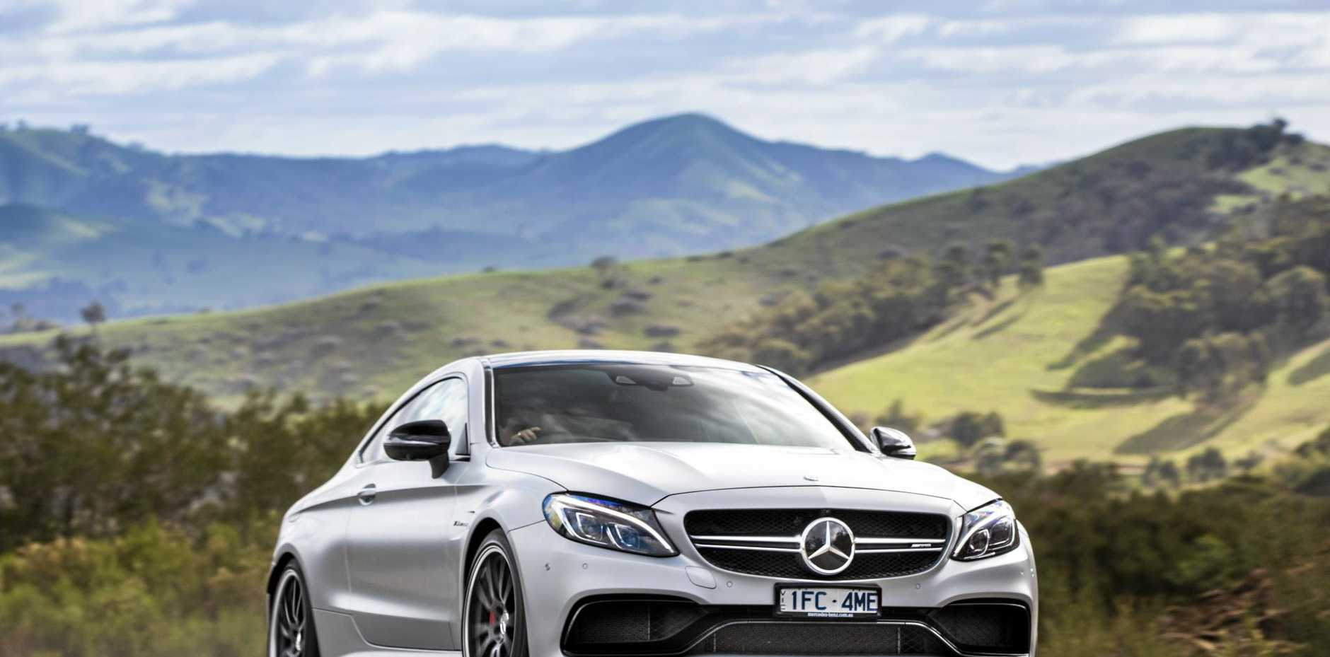 The Mercedes-AMG C63 S Coupe is powered by a bi-turbo V8, and can reach 100kmh from standstill in less than four seconds.