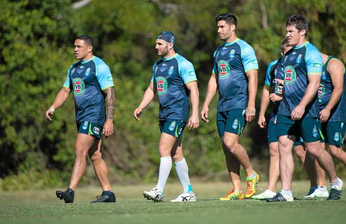 NSW hooker Robbie Farah (with cap) will be giving his all in a bid to avoid a State of Origin whitewash in tonight's match at ANZ Stadium.