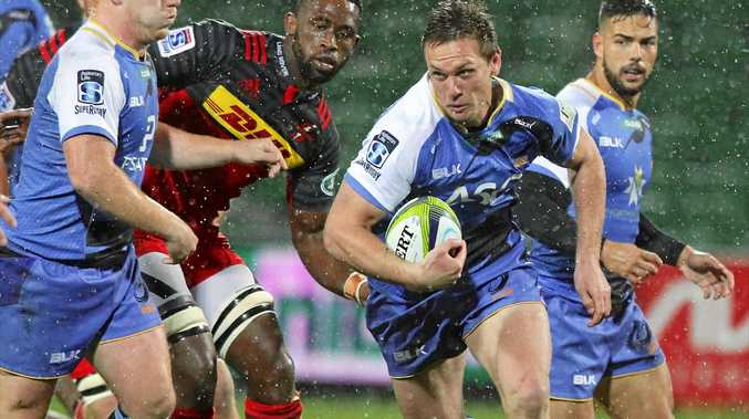 HOT WATER: Dane Haylett-Petty of the Western Force during the Round 16 Super Rugby match against the Stormers at NIB Stadium in Perth.