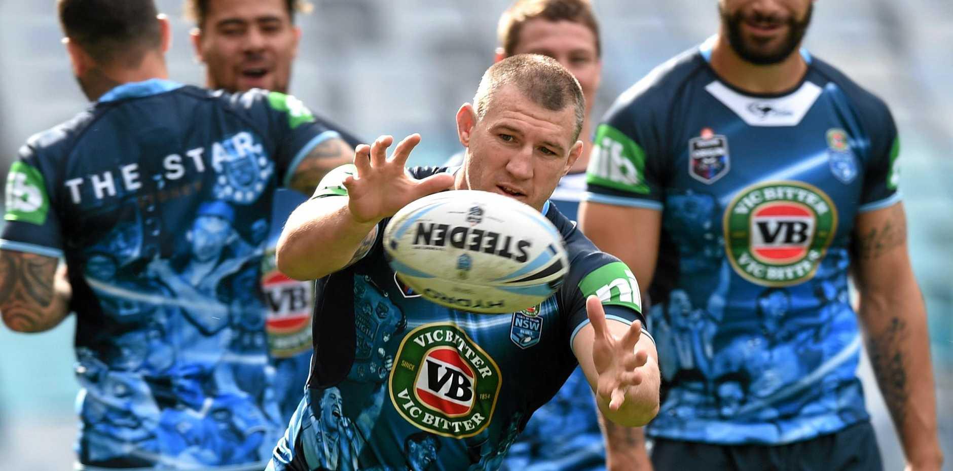 LAST GAME: NSW  Origin captain Paul Gallen   during the captain's run at ANZ Stadium in Sydney.