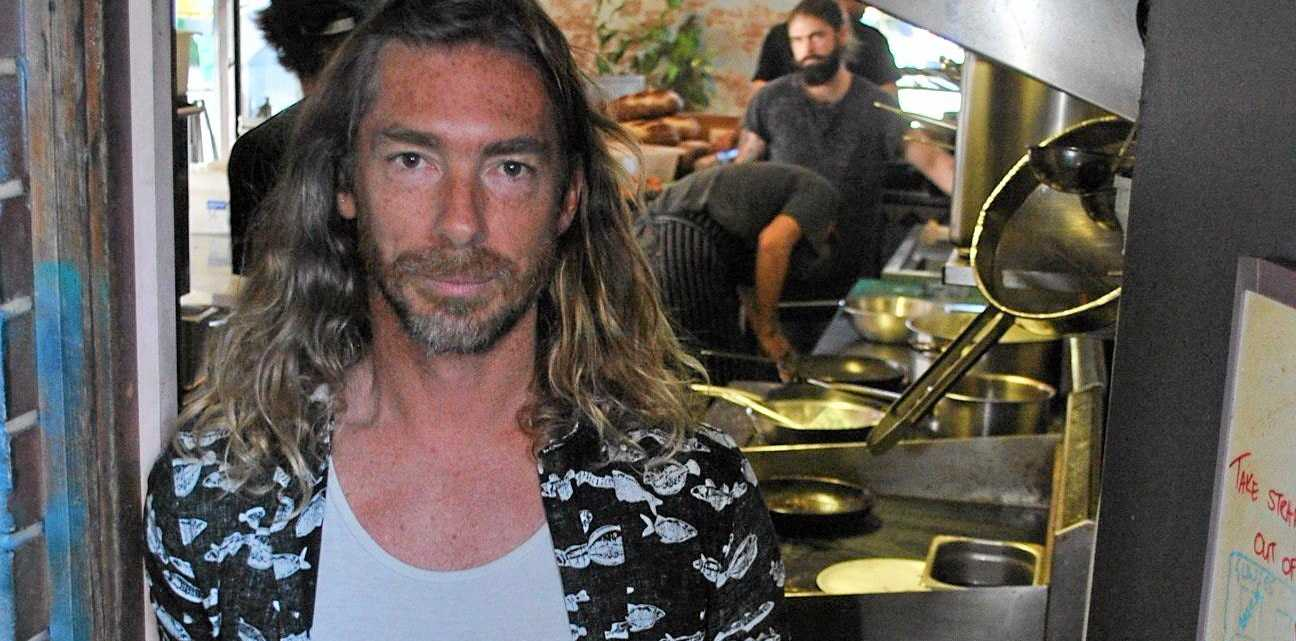SUSTAINABLE: Co-owner of the Bayleaf Cafe in Byron Bay, Dan Readman.
