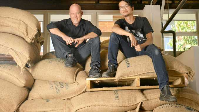 NEW ARRIVALS: Naoyuki Kitajima and Rob Mergard from Dancing Bean Coffee, which has recently opened in Ipswich.