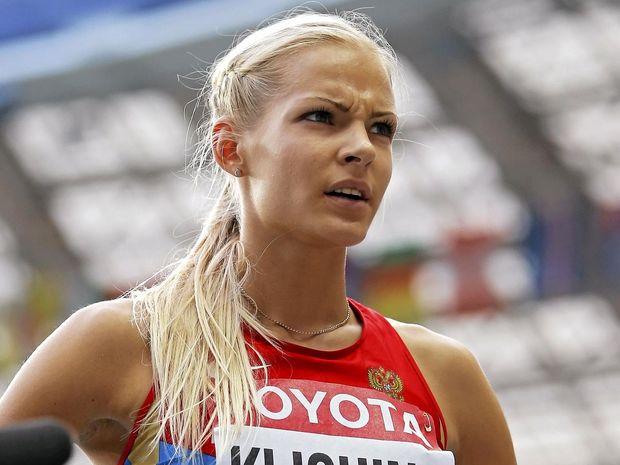 IN THE CLEAR: Long jumper Darya Klishina of Russia.