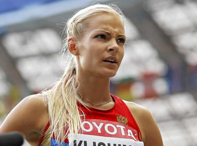 IN THE CLEAR: Long jumper Darya Klishina of Russia.