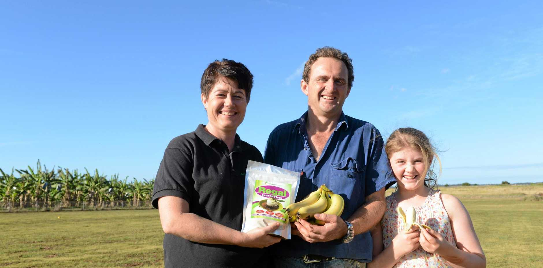 PLATE TO PADDOCK: Jacinta, Gavin and Ava Jowlettt at their farm, Springhaven Meadows.
