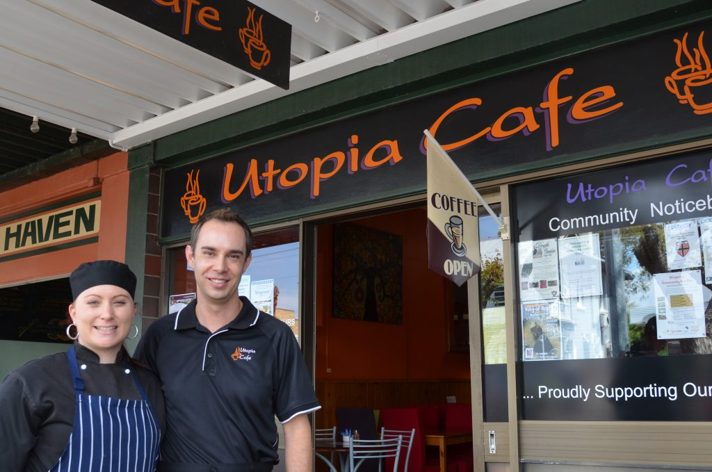 FAREWELL: Utopia Cafe chef Casey McBride and owner Wayne Evans.