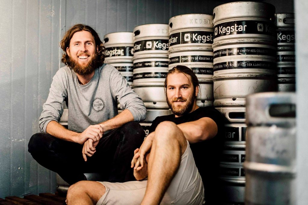 Co-founders of Caloundra's Your Mates Brewing Co, Matt Hepburn and Christen McGarry, have made a beer, Pontiff, for their mate Nick 'The Pontiff' Gulotta.