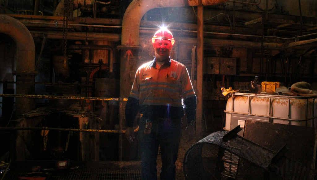 CRUSH: Wilmar mill manager Danny Van der Berg at the Proserpine Mill last month.