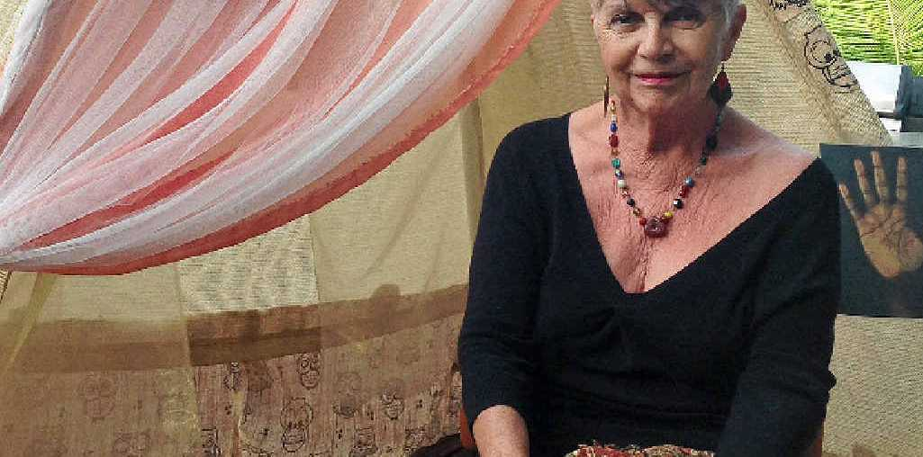 """FUTURISTIC: Linda """"Virgo"""" has been reading palms since she was 17 and will be at the Arts and Craft Festival at the Proserpine Entertainment Centre on Friday and Saturday."""