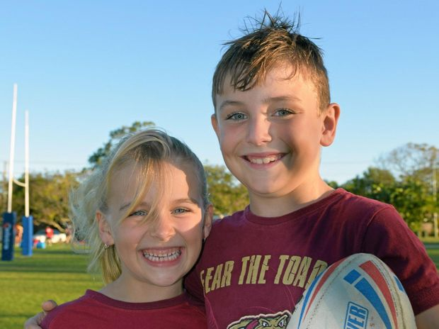 ORIGIN DEBUT: Maddison Young will be tossing the coin at Wednesday's Origin game alongside brother Brayden.