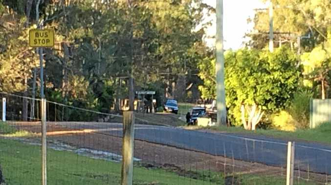 A siege at Karalee lasted almost two hours yesterday.