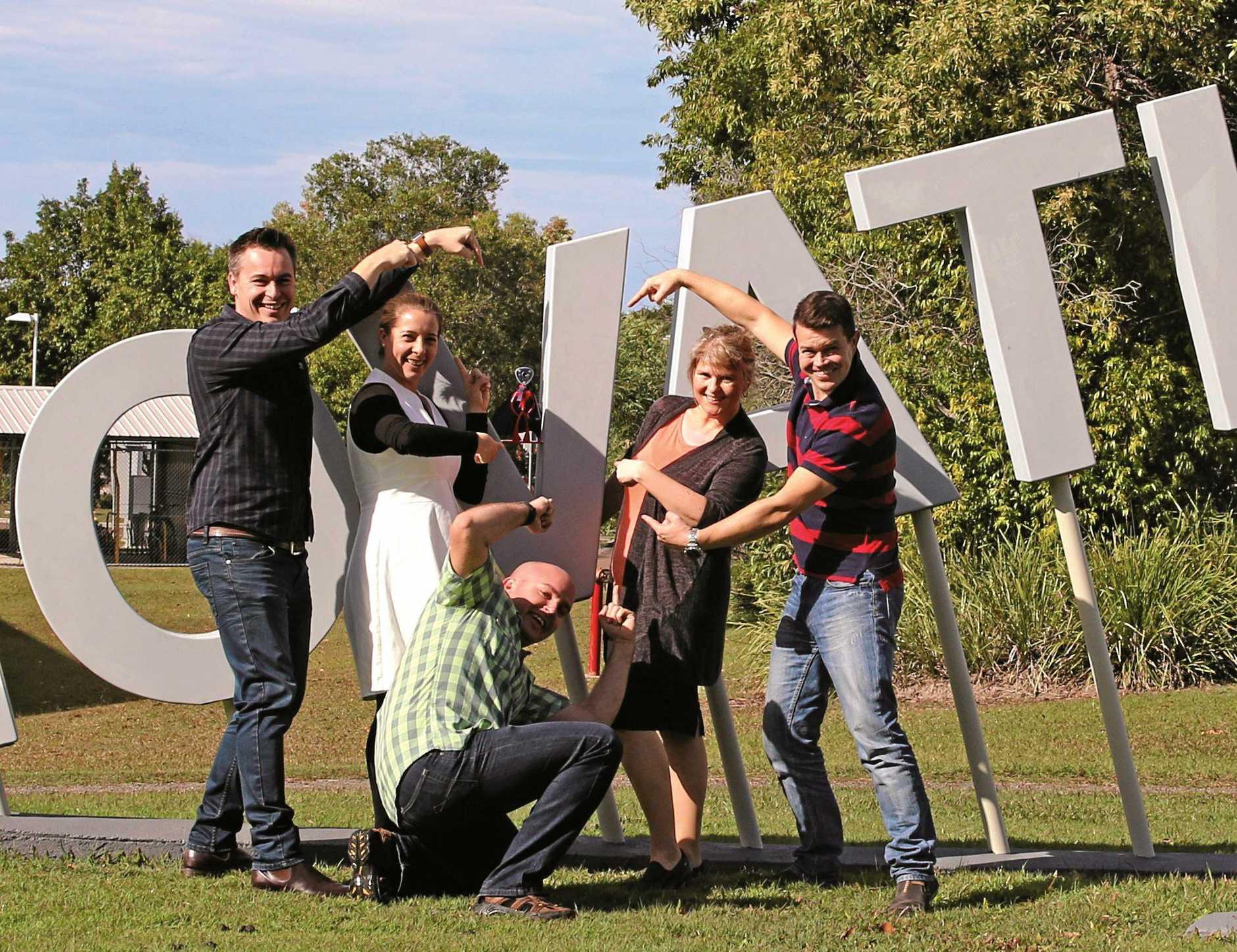 The Guzu team: Tim Mobbs (left), Jessie Groom, Beau Sagadin, Kat Lundmark, Russell Lotric.