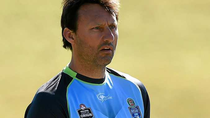 UNDER PRESSURE: Blues coach Laurie Daley.