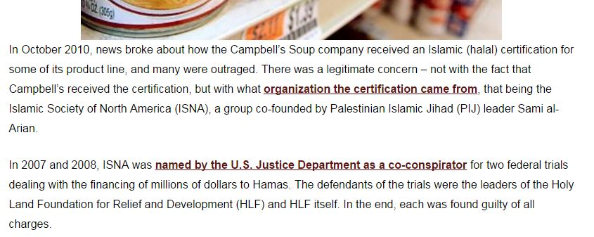Halal Certification as described by the American