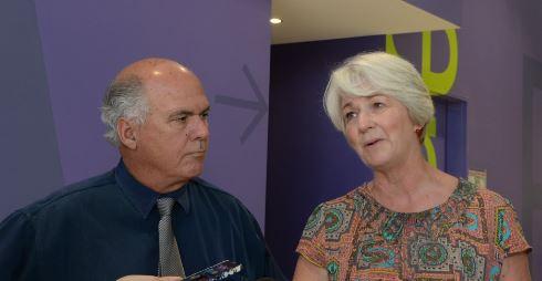 Livingstone Shire Council mayor Bill Ludwig with Rockhampton Regional Council mayor Margaret Strelow.